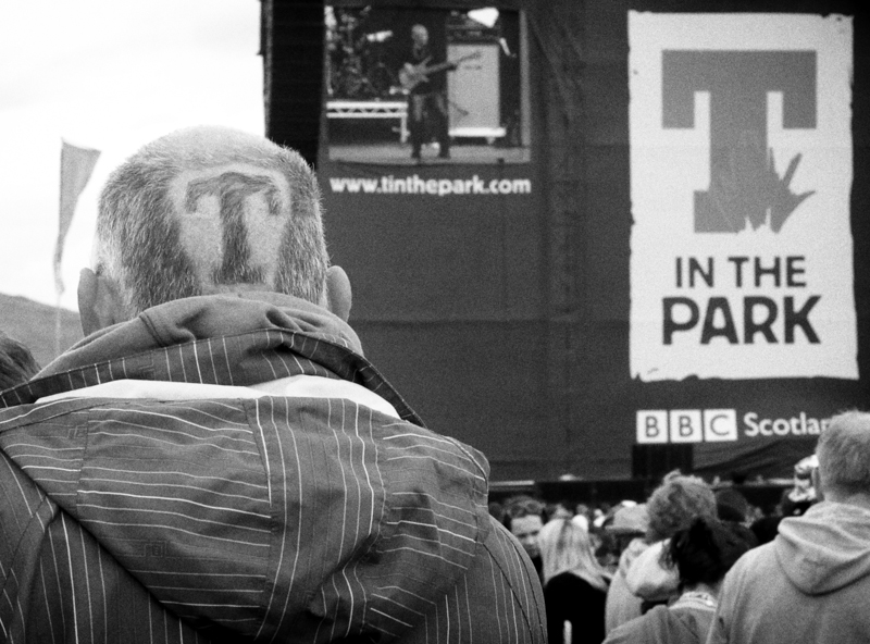 T in the Park, photograph by James Boyer Smith.